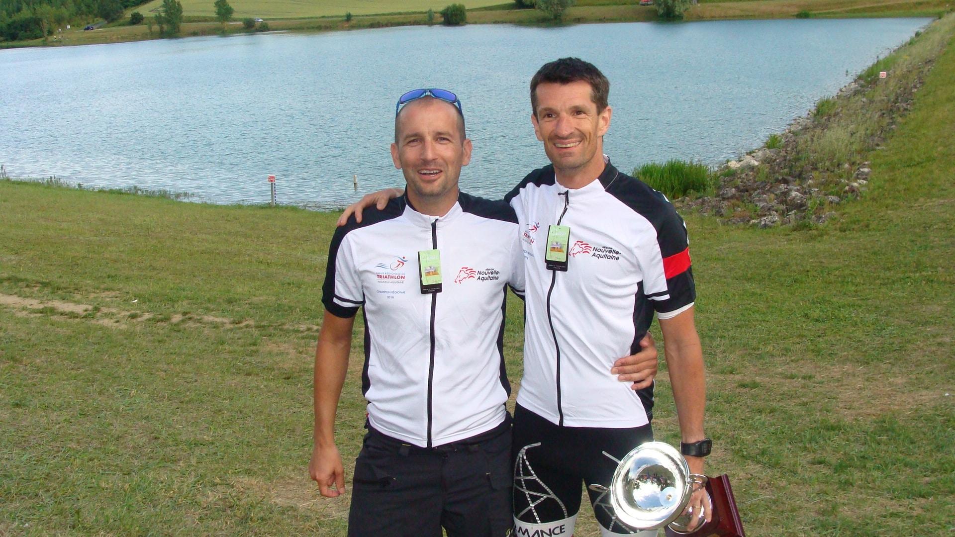 Ludovic PROUZET et Nicolas PIZZOL (Miramont Triathlon)