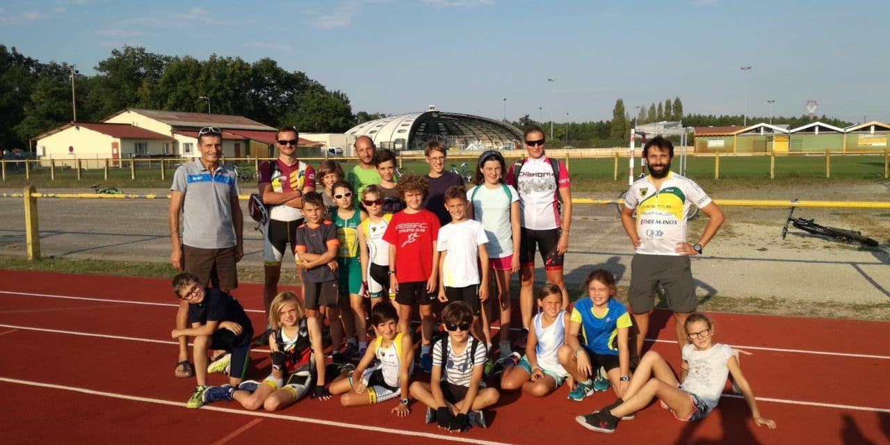 Pratique jeune au SAGC CESTAS Triathlon, une école de triathlon qui monte