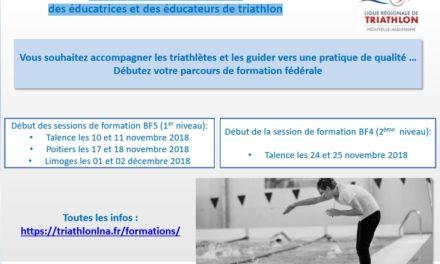 Formation fédérale 2018-2019 des éducatrices et des éducateurs de triathlon