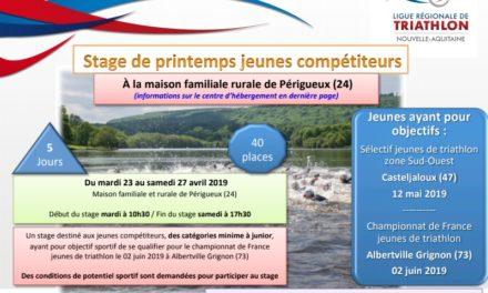 Stage Jeunes Ligue Avril 2019 (Périgueux)
