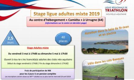 Stage Adultes mixte – Urrugne (64) – du 3 au 5 mai 2019
