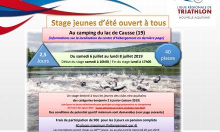 Stage Jeunes Ligue Juillet 2019 (Lissac-sur-Couze)