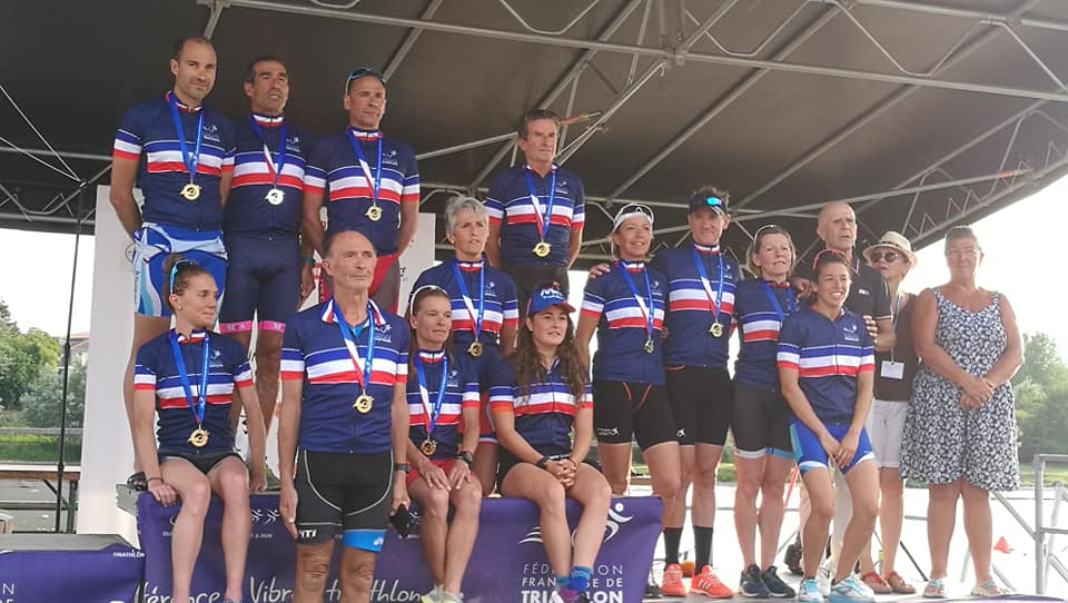 Résultats Championnat de France d'Aquathlon à Bergerac (24) le 20 juillet 2019