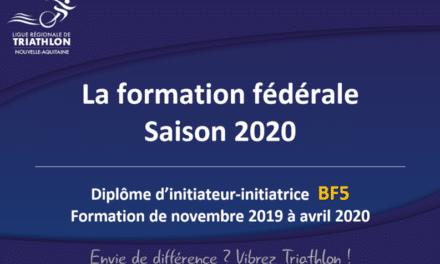 Offre de formation fédérale BF5 & BF4 2019-2020