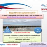 Stage féminin – Port des Barques (17) – du 13 au 15 septembre 2019