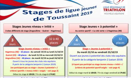 Stages Jeunes – Vacances de la Toussaint
