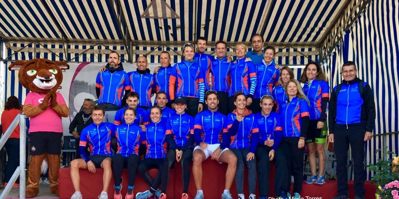 Championnat régional de triathlon CLM par équipe 2019 à Coutras (33)