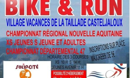 Championnat de Bike and Run Nouvelle-Aquitaine 2020