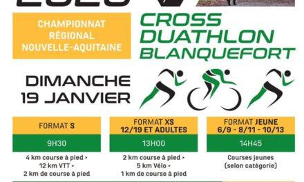 Championnat Nouvelle-Aquitaine de Cross Duathlon 2020