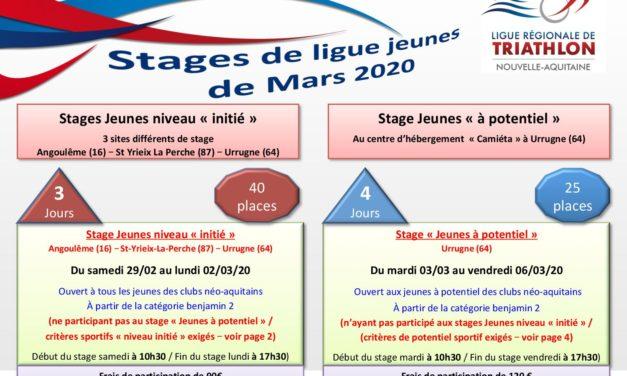 Stages Jeunes – Vacances de Février 2020