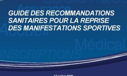 PRÉCONISATIONS REPRISE ACTIVITÉS CLUBS & MANIFESTATIONS