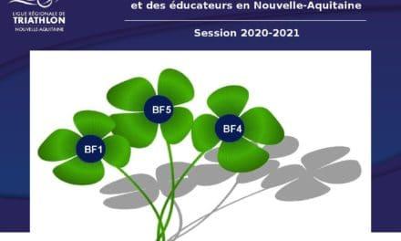Offre de formation fédérale BF1 – BF5 – BF4 2020 / 2021 en Nouvelle-Aquitaine