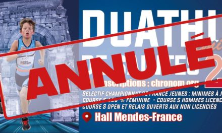 ANNULATION DUATHLON DE SAINTES // SÉLECTIF CHAMPIONNAT DE FRANCE JEUNES DE DUATHLON