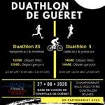 OUVERTURE DES INSCRIPTIONS DUATHLON DE GUÉRET // SÉLECTIF CHAMPIONNAT DE FRANCE JEUNES DE DUATHLON // DIMANCHE 27 SEPTEMBRE 2020