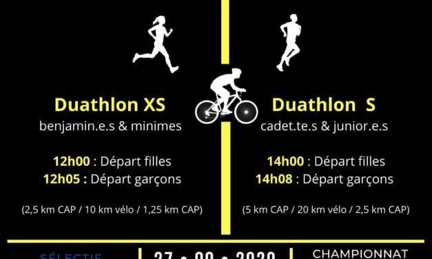 Championnat Nouvelle-Aquitaine de Duathlon Jeunes 2020