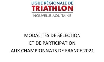 Modalités de sélection et de participation aux Championnats de France 2021