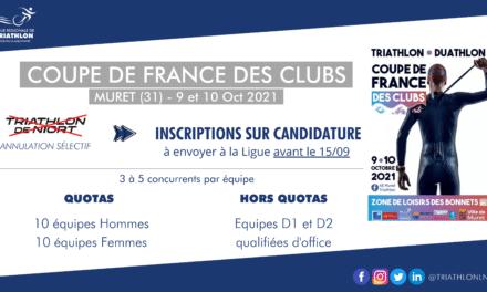 Modalités de sélection pour la Coupe de France des Clubs 2021
